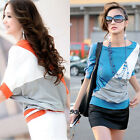 Loose Casual T-shirt Blouse Elegant Ladies Womens Fashion Batwing Short Sleeve