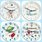 BOYS PERSONALISED BEDROOM NURSERY WALL CLOCK Cute Birthday Christmas Gift idea