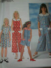 SIMPLICITY # 7662 - GIRLS FRONT BUTTON / SCALLOPED COLLAR JUMPER PATTERN 7-14 uc