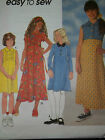 SIMPLICITY # 7663 - GIRLS SUMMER PULLOVER BACK TIE FLARED DRESS PATTERN 7-16 uc