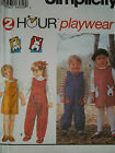 SIMPLICITY # 9230- TODDLERS PULL-ON (2-HOUR) JUMPER - JUMPSUIT PATTERN  ½ - 4 uc