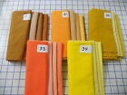 "UNBELIEVABLE shades of PIMA cotton 4 fat quarters ea 18 x 29"" yellow gold orange"