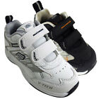 Little Boys Skechers Frontier Rim Trainers Shoes Leather Kids Velcro Trainer