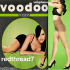 Voodoo Voluptuous Plus Size 18-20 22-24 Sheer Toeless Stockings Pantyhose Nude