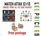 MATCH ATTAX 12/13 CHOOSE FROM ALL 20 STAR PLAYERS