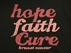 Breast Cancer Awareness HOPE FAITH CURE Missy Fit T-Shirt S-3XL PINK ribbon