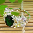 New Style Topaz Jewelry Gemstone Silver Ring Size #7/#8/#9/#10 for gift