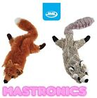 JML CRAZY CRITTERS DOG TOY FOX RACOON PET CHEW STUFFING FREE GIFT CRITTER