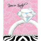 GLITZY ENGAGEMENT PARTY - ZEBRA - ITEMS ALL IN ONE LISTING - £5 MAX POSTAGE UK