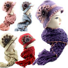 Women Vintage Crochet Hat and Scarf Two in One Set Handmade Winter Gift for Her