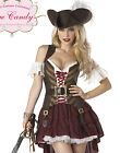 Sexy Adult Swashbuckler Captain Pirate Wench Womens Halloween Costume Set S-2XL