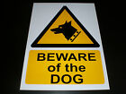 Beware Of The Dog Plastic Sign Or Sticker Choice Of Sizes Security Hazard