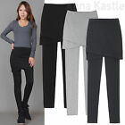 AnnaKastle New Womens Cotton Stretchy Wrap Tulip Skirted Leggings Tight Pants