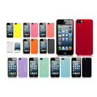 ULTRA THIN HARD BACK CASE COVER FITS APPLE IPHONE 5 FREE SCREEN GUARD