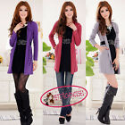 Chic False 2 in 1 Long Cardigan Jumper Sweater Dress With Belt UJ2101
