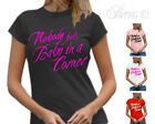 NEW NOBODY PUTS BABY IN A CORNER FUNNY WOMENS DESIGNER T-SHIRT TSHIRT S M L XL+