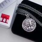 Sterling Silver Roman Tetradrachm of Rhegium Lion Pendant Necklace Jewelry Charm