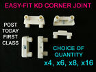 FURNITURE KD CONNECTOR CORNER MODESTY JOINT BLOCK WHITE NO SCREWS NEEDED