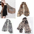 Fashion Womens Leopard Pattern Animal Print Chiffon Scarf Shawl Wrap 172*72cm