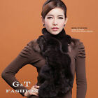 0383 Genuine Winter Rex Rabbit Fur Scarf Scarves Wrap Neck Warmer Shawl Stole