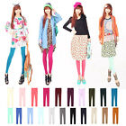 Womens Colorful Leggings Footless Tight Candy Pants 7 Colors S M L Size Free Y68