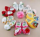 New Baby Toddler Infant Girl Cotton Shoe Ties Flower Kid Booties Slippers Sandal