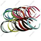 """X12 3/8"""" Grosgrain Ribbon Wrapped Covered /Lined Plastic Headband 10mm 15mm 25mm"""