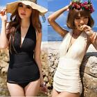 Top Sexy One Piece Swimsuit Halter Swimwear Swim Dress Women Bathing suits
