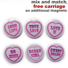 Love heart neodymium fridge magnets. For your valentine girlfriend, boyfriend.