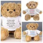 PERSONALISED TEDDY MESSAGE BEAR, Birthday Wedding Baby Mothers Fathers Day gift