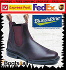 New Blundstone Mens 059 Work Dress Boots Shoes Soft Toe Brown Leather AU Size