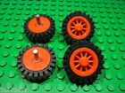 Lego - Wheel Spoked 2 x 2 with Stud (bb19) + Offset or Smooth Tyre - Qty x4