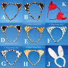 EARS HEAD BANDS HEADBAND LEOPARD TIGER RABBIT ZEBRA DEVIL BUNNY HEN NIGHT PARTY