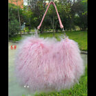QD5576 New Real Mongolian Sheep Fur Handbag Mongolian Sheep Fur Shoulder Bags