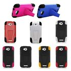 For HTC One VX Cover Trifecta Hybrid Kickstand Cell Phone Accessory Covers Cases