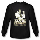 Elvis Presley Golden King Of Rocken Roll Licensed Adult Long Sleeve T Shirt