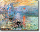HUGE Monet Impression Sunrise Stretched Canvas Giclee Art Repro Print ALL SIZES
