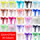 22x270cm Organza Chair Cover Sash Bow Sash Wider Sashs For A Large Fuller Bow