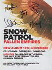 SNOW PATROL Fallen Empire SIGNED Autographed PHOTO Print POSTER Tickets CD 02
