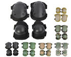 6 Color Airsoft Tactical Knee & Elbow Protective Pads Set Black/TAN/OD/ACU/WD A
