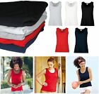 Fruit of the Loom FOTL Womens T Shirt Vest Ladies Fitted Top Lady Fit