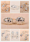 925 sterling silver tone ball bead dolphin star fish earrings multiple choices