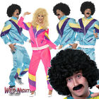 80s Scouser Shell Suit Fancy Dress Mens Ladies Tracksuit Costume Adult 1980's