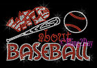 Wild about Baseball - Ball & Bat - Rhinestone Iron on Transfer Hot Fix Bling Mom