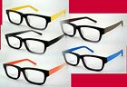 New Premium Quality Black Rectangular Clear Glasses Frames with Colorful Arms