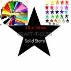 36 LARGE 10cm x 10 cm SOLID VINYL STAR STICKER CAR BIKE VAN  BEDROOM WALL CRAFT