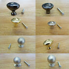 Door Drawer Cabinet Pull Round Black Knob Knobs Handle Brass Chrome Metal