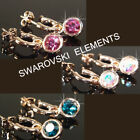 SALE  Rose Gold Plated Earrings use Swarovski Crystal Prom Xmas E490Gp  3 choice
