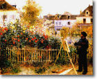 HUGE Renoir Monet Painting Garden Argenteuil Stretched Canvas Repro ALL SIZES