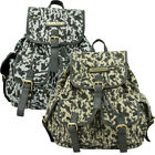 Ladies Anna Smith Camouflage Combat Backpack Rucksack Shoulder Hand Satchel Bag